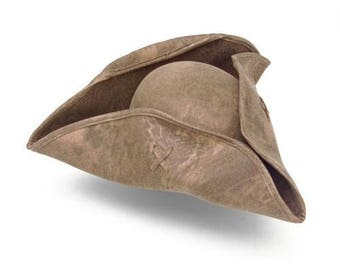 Leatherette Tricorn