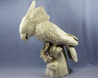 Antique Nymphenburg Cockatoo Porcelain Figurine