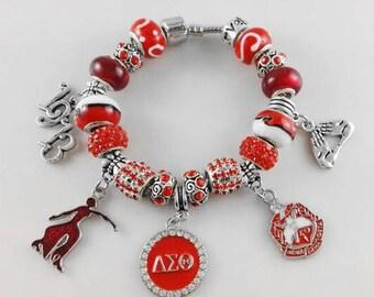 Delta Sigma Theta Charm Bracelet Red Lady #8 21CM