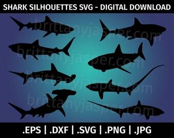 Shark silhouette  Etsy