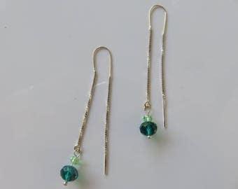 """""""Elfie"""" Earrings: 925 sterling silver chains"""