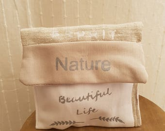 Cotton and linen pouch