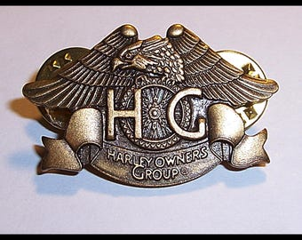 HOG Harley Davidson Owners Group Pin Cut Vest Hat Bandanna HD Motorcycle MC Road Glide Boy Bars Bags Pipes