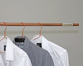 Hanging Copper Clothing Rail / Clothes Rack
