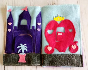 Quiet Book - Take along activity book- Princess/Fairies/Mermaids