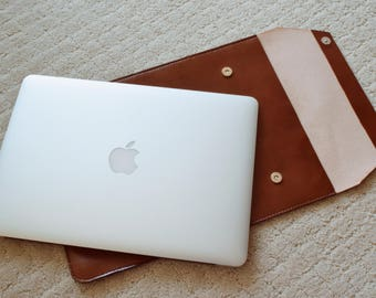 LEATHER MACBOOK CASE 13 inch - Leather Macbook Sleeve, Macbook Pro case , Macbook Air case, Macbook cover, Macbook skin - Vegan leather