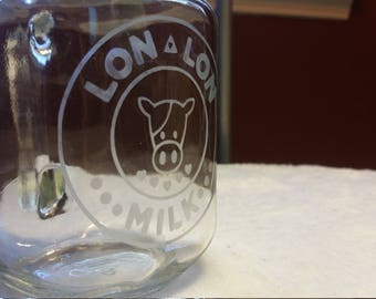 Lon Lon Ranch Mason Jar with Zelda Magnet **8-Dollar 2 day shipping**
