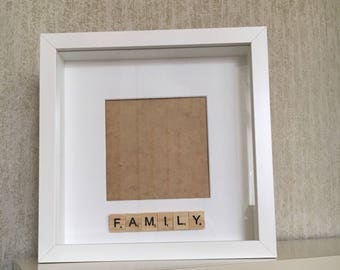 Family scrabble photo frame