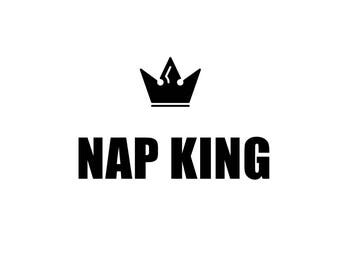 Nap King, Boys Inspirational Art, Quotes, Quote for Boys Room, Nursery, Nursery Art, Boys Room Decor, Boys Art, Male Quote, Man Cave Decor