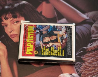 Pulp Fiction cigarette case with built in lighter. Pulp Fiction tobacco case
