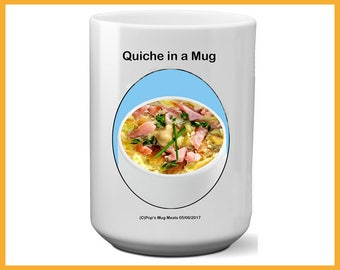 Breakfast Quiche Mug Meal Meal In A Mug Simple Meal Easy Meal Collage Student Gift Sr Citizen Gift Single Person Gift No Cooking Time Gift