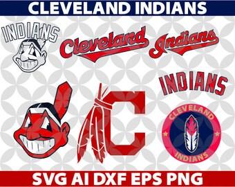 Cleveland Indians Art Colection SVG