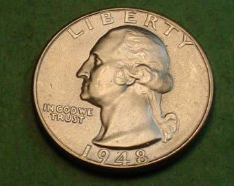 Washington Quarter 1948 Gem BU<> # ET3713