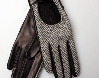 Gloves, Gift,Leather Gloves,  Leather Mittens, Gloves Lady Gloves, Wife Gift, Handmade gloves, Driving gloves