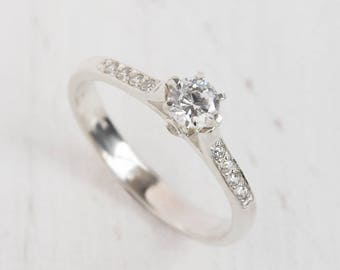 Promise ring, Engagement ring, Women ring silver, Elegant ring, Art deco ring silver, Fine silver ring, Promise ring for her