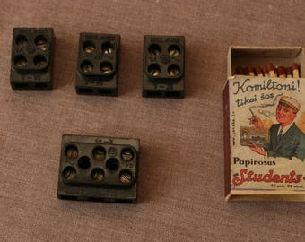 Set of 4 Electrical Wire Connectors. Vintage