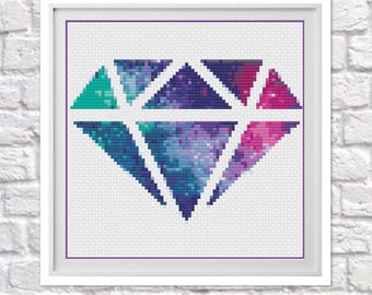 Galaxy Diamond (Smaller Version) Counted Cross Stitch Chart