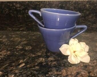 Vintage Harlequin Fiesta BLUE MAUVE Tea Cup (2ct)