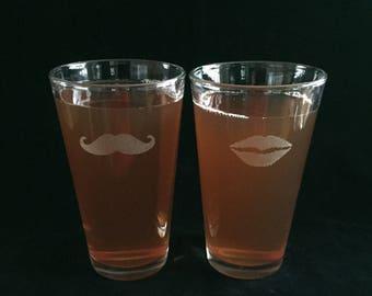 Engraved Pint Glass, Beer Glass, Beer Gift, Custom Pint Glass, Gifts For Him, Boyfriend Gift, Wedding Gift, Beer Glasses