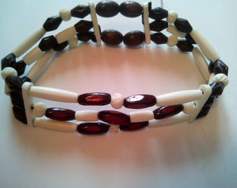 Native American 3 row choker necklace
