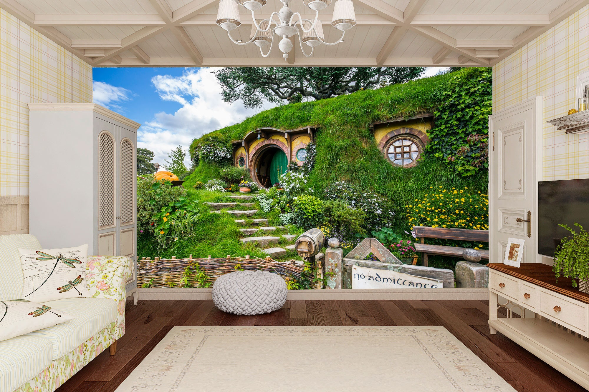 nature wall mural lord of the rings panorama wall art hobbit house wallpapers