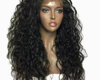 Curly Brazilian Lace Front Human Hair Wig natural color