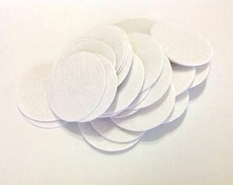 200pcs 40mm White Die Cut Round Felt Circles Patches Pad Sewing Craft Supplies