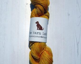 4 ply Disney Princess inspired sock yarn Belle colourway.