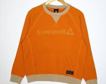 Rare!! vintage Le Coq Sportif Sweatshirt Spell Out Logo Size Small
