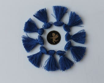 10 charms tassels blue indigo 25 mm - handmade - hand made - jewellery - bracelet