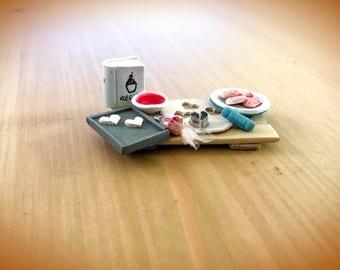 Heart Shaped Cookie Platter | Cookie Platter miniature | Cookie party preparation Miniature | Dollhouse Furniture | Dollhouse Miniature