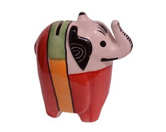 Ceramic Pottery | Elephant coin bank | Elephant shaped Piggy Bank | Perfect Gift