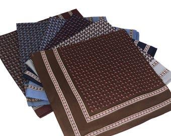 Paisley Pattern Fine Italian Bandannas/Hankie  Pack of 6