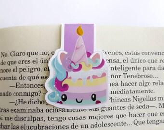 Unicorn Cake || Magnetic Bookmark