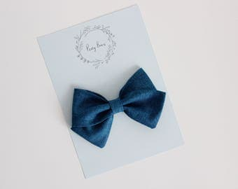 Skippy bow | denim blue