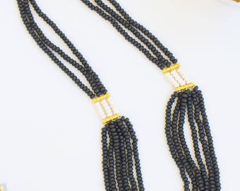 Black Elegance Multi-Strand Necklace