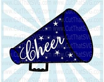 Cheer Megaphone SVG Cut file