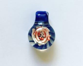Glass Flower Pendant