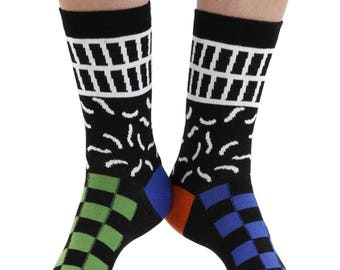 Monoclash combed cotton multicolour odd-socks | By seriouslysillysocks