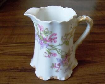 Vintage Limoges porcelain creamer. France (#EV121)