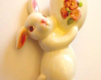 Vintage Avon Easter Candle Holder - Easter decoration- Spring Candle Holder - Bunny figurine