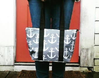 Insulated Anchor Lunch Tote