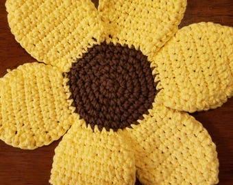 Sunflower Coasters, set of 3