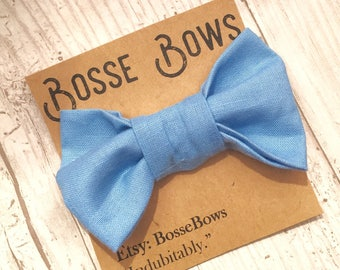 Toddler Bowtie | Baby bow tie | Blue bow tie| Baby boy bow tie | baby bowtie|Gender reveal | Toddler bow tie| Clip on Bow tie | Ringbear