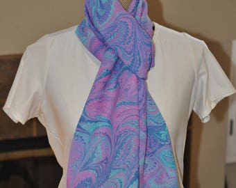 Hand made 100% silk scarf
