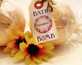 Sunshine All Natural Aromatherapy Artisanal Bath Bomb