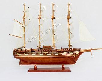 Vintage ship model, model sailing boat, Wooden sailing boat model, Sailing Ship Model - FRANCE II