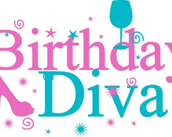 Birthday Diva PNG