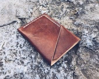 Leather card holder, Leather card case, Compact card holder, Men's gift, Groomsmen gift, Slim wallet, Weddings, Handmade card holder