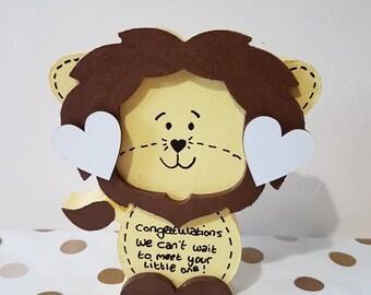 New baby gift Freestanding Lion Elephant Gift for Baby Boy Baby Girl Gift Baby Shower Gift Baby Keepsake Newborn Baby Welcome Baby New Baby